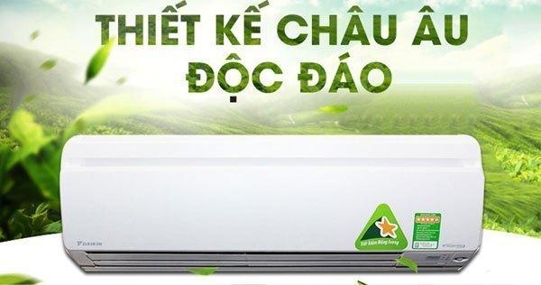Thiết kế máy lạnh hiện đại với phần mặt nạ có thể tháo lắp dễ dàng