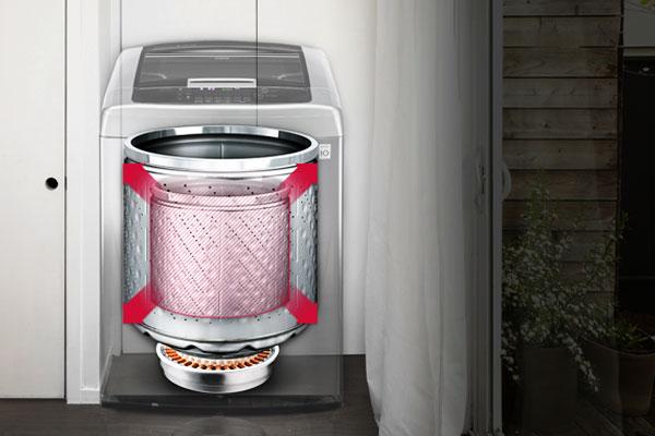 Quần áo của cả gia đình sẽ được giặt sạch nhờ máy giặt sở hữu dung tích lớn