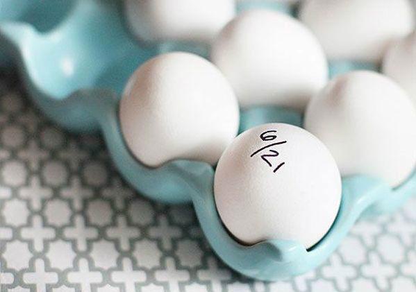 Bạn nên tập thói quen theo dõi hạn dùng của thực phẩm để sử dụng chúng hiệu quả và an toàn hơn. Chẳng hạn bạn để trứng mới và cũ vào chung một hộp, đừng quên dùng bút ghi lại hạn sử dụng lên vỏ của trứng cũ.