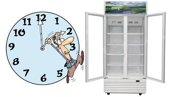 Mở cửa tủ mát 2 tiếng trước khi dùng lần đầu