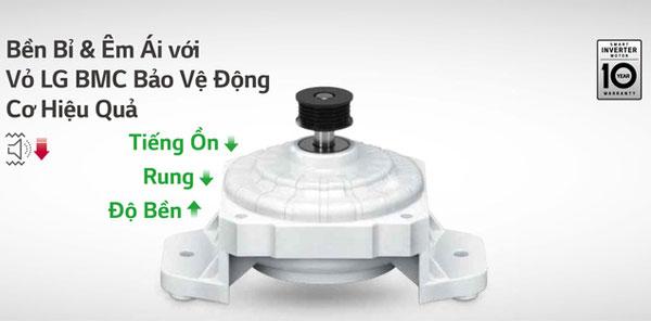Lớp vỏ BMC hạn chế tác động của độ ẩm, bụi và ngăn ngừa côn trùng lọt vào động cơ