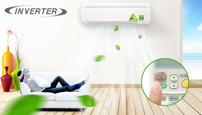 Chí điện năng hàng tháng sẽ không còn là nỗi lo với công nghệ Inverter của điều hòa Daikin, giờ thì bạn có thể sử dụng thả ga cả mùa nóng và lạnh rồi!