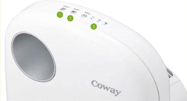 Thiết kế nút điều khiển đơn giản giúp bất kì ai cũng có thể dễ dàng sử dụng máy lọc không khí Coway, kể cả người già lẫn trẻ em