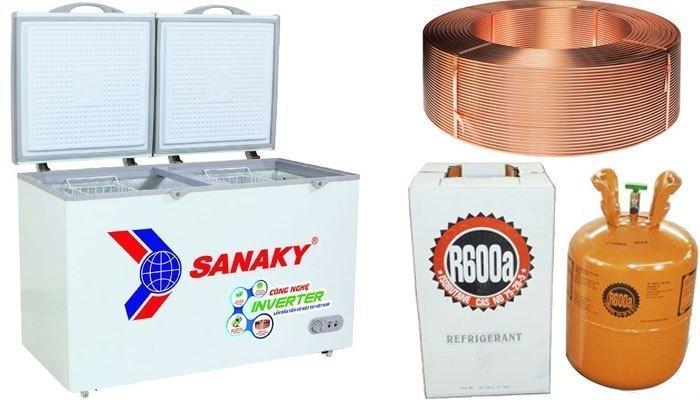 Sanaky VH 2899A3 là tủ đông sử dụng dàn lạnh bằng đồng cho khả năng làm lạnh sâu và nhanh