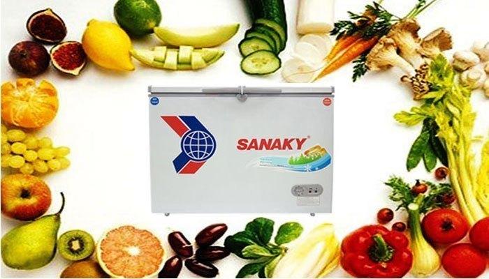 Ngoài khả năng đông lạnh, tủ đông Sanaky còn làm lạnh, bảo quản trái cây, rau củ