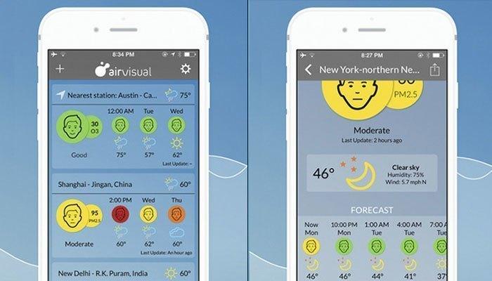 Tránh ô nhiễm không khí bằng điện thoại