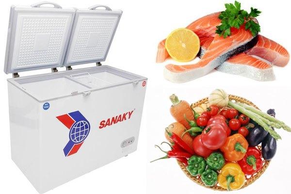 Tủ đông Sanaky bảo quản thực phẩm tươi ngon lâu