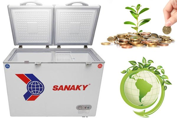Vừa bảo vệ môi trường vừa tiết kiệm điện năng với tủ đông Sanaky