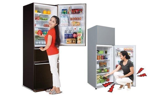 Nếu thường xuyên sử dụng ngăn lạnh, tủ lạnh ngăn đá dưới là sự chọn lựa hoàn hảo cho bạn