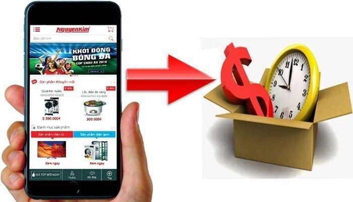 Mua hàng online để mua hàng điện máy tiết kiệm