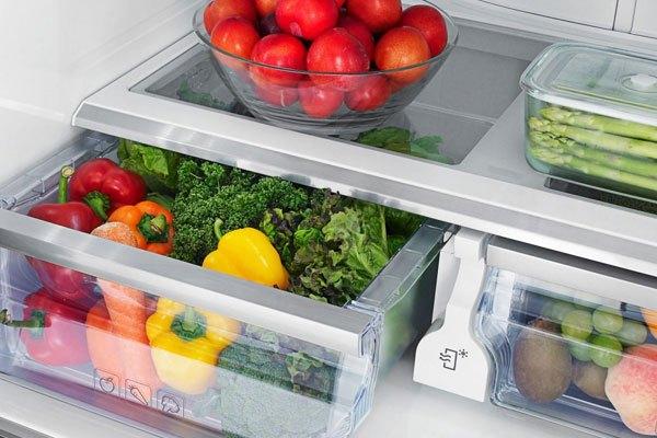 Bảo quản rau củ quả trong tủ lạnh ở nhiệt độ từ 1° đến 4°C