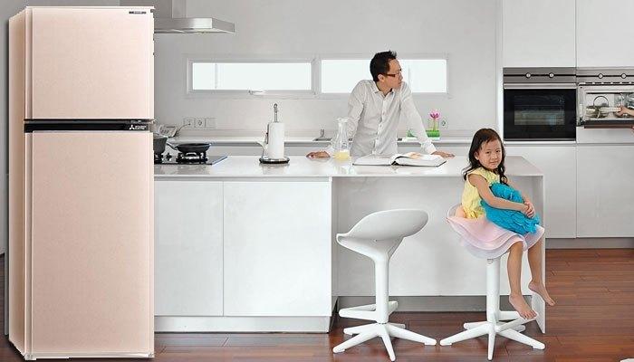 Tạo điểm nhấn cho ngôi nhà với màu hồng đẹp mắt của tủ lạnhMitsubishi Electric MR-FV28EJ
