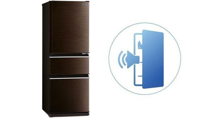 Hệ thống báo động thông minh trên tủ lạnh Mitsubishi thích hợp cho gia đình có trẻ nhỏ