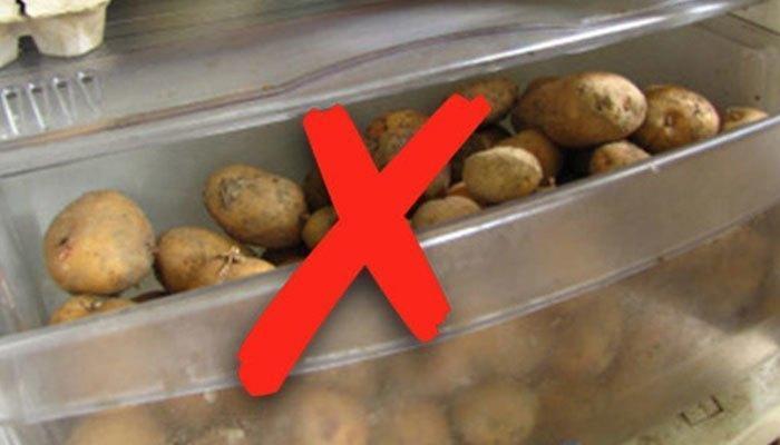 Không nên để khoai tây trong tủ lạnh