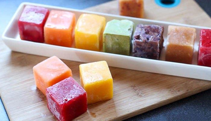 Tẩy tế bào chết bằng hỗn hợp nước trái cây đông lạnh trong tủ lạnh sao lại không nhỉ?