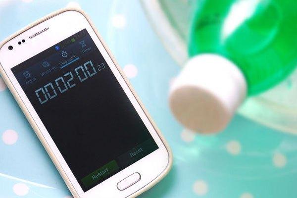 Dùng điện thoại canh 2 phút