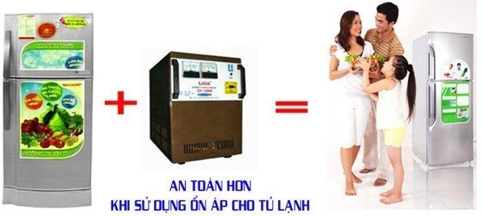 Với nơi có nguồn điện không được ổn định, bạn cần dùng ổn áp để an toàn hơn cho tủ lạnh