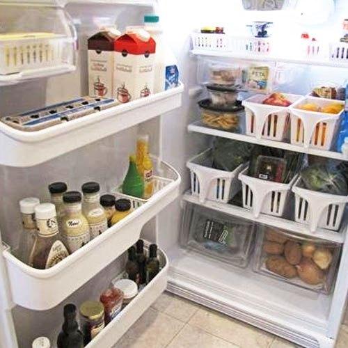 Cho thực phẩm vào từng ngăn đựng tủ lạnh