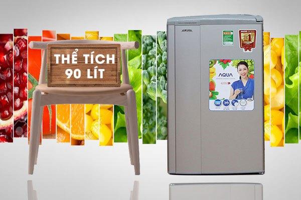 Dung tích tủ lạnh Aqua lớn hơn cho bạn dự trữ được nhiều thực phẩm hơn