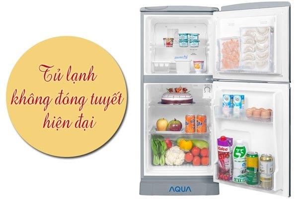 Rút ngắn thời gian vệ sinh tủ lạnh Aqua với hệ thống xả tuyết tự động