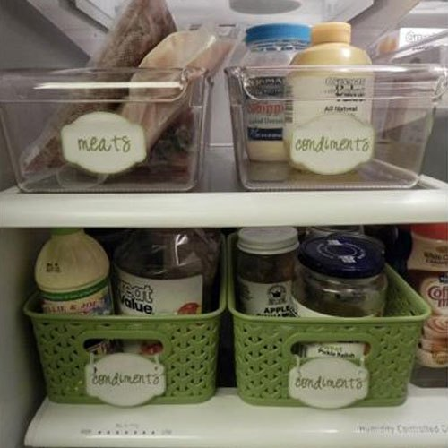 Gắn nhãn cho từng ngăn đựng trong tủ lạnh