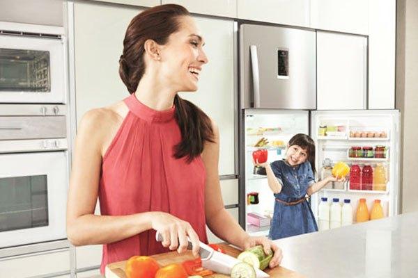 Tủ lạnh dung tích lớn sẽ bảo quản thực phẩm được lâu