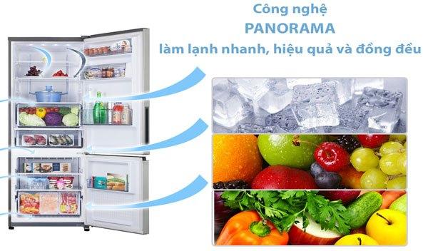 Thực phẩm dù bỏ bất kỳ vị trí nào trong tủ lạnh đều được làm lạnh hiệu quả