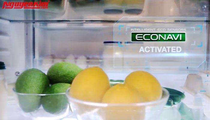 Nhiệt độ trong tủ lạnh được điều chỉnh ổn định nhờ vào công nghệ cảm biến Econavi