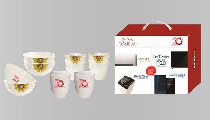 Bộ quà tặng xinh xắn khi mua tủ lạnh Toshiba