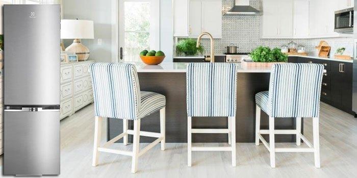 Thiết kế hiện đại, sang trọng của tủ lạnh Electrolux EBB2600MG phù hợp với nhiều không gian nhà bếp