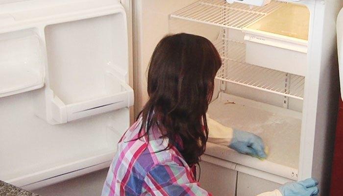 Hãy thường vệ sinh tủ lạnh để không bị hư bộ xả đá
