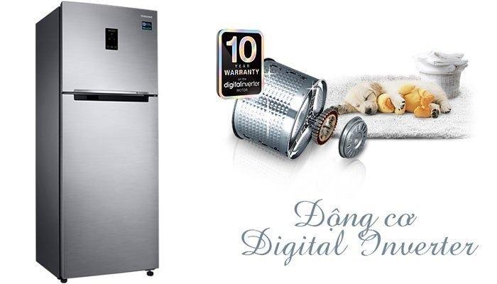 Tủ lạnh Samsung RT32K5532S8 ngoài được trang bị 2 dàn lạnh độc lập còn có động cơ Inverter tiên tiến giúp tiết kiệm điện năng và làm lạnh hiệu quả