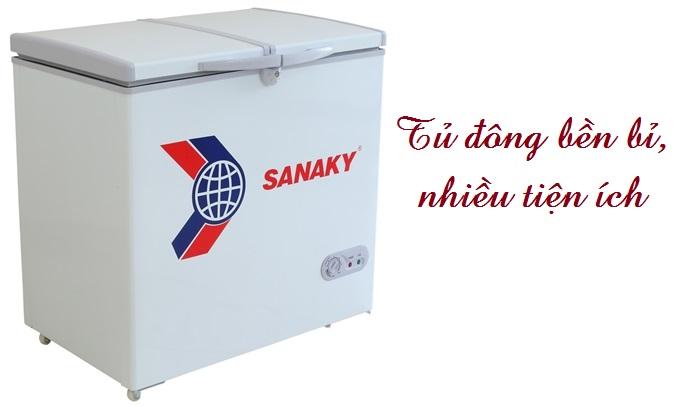 Tủ đông Sanaky VH-255W2 bền bỉ, nhiều tiện ích