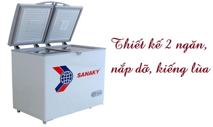 Tủ đông Sanaky VH-255W2 dễ vệ sinh