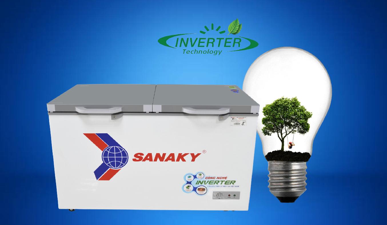 Tủ đông Sanaky Inverter 305 lít VH-4099A4K tiết kiệm điện năng