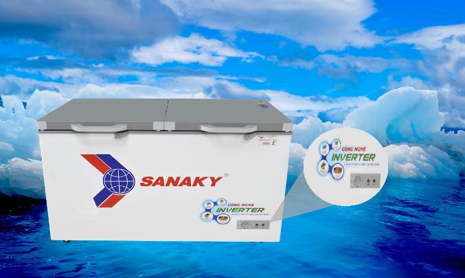 Tủ đông Sanaky Inverter 305 lít VH-4099A4K Dễ sử dụng