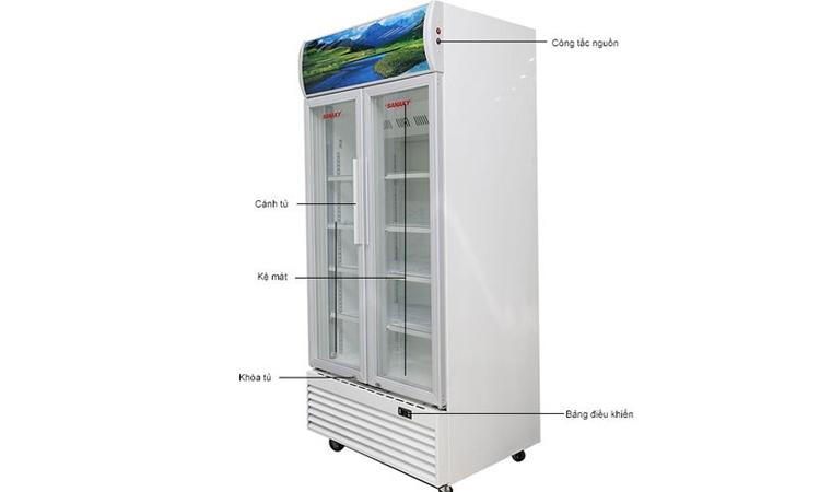 Tủ mát Sanaky VH-8009HP có 2 cửa bền bỉ