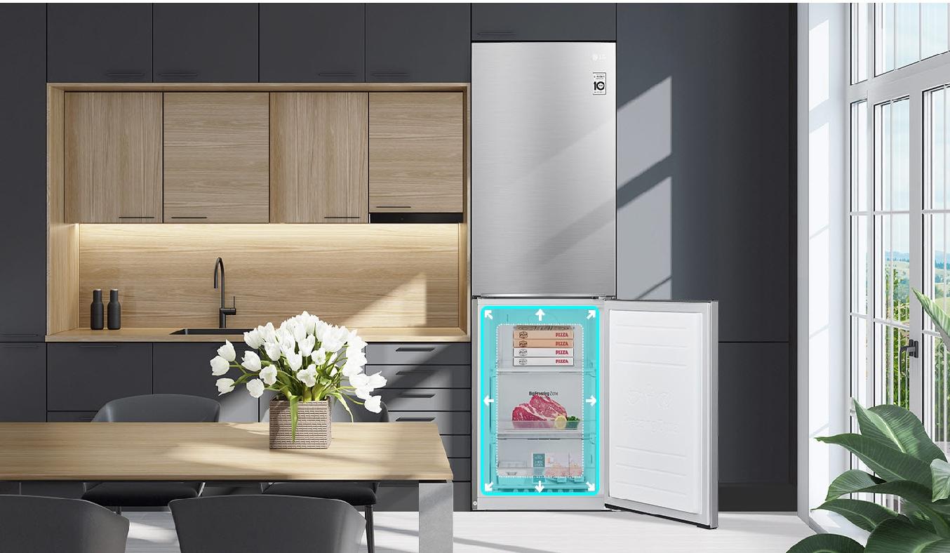 Tủ lạnh LG Inverter 306 Lít GR-B305PS - Thiết kế sang trọng, tiện ích đa dạng, phục vụ tối đa đời sống gia đình