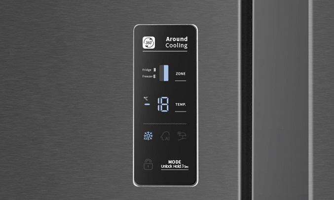 Tủ lạnh Casper Inverter 551 lít RS-575VBW - Bảng điều khiển cảm ứng