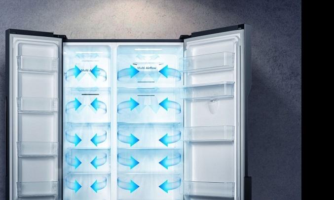 Tủ lạnh Casper Inverter 551 lít RS-575VBW - Hệ thống làm lạnh đa chiều