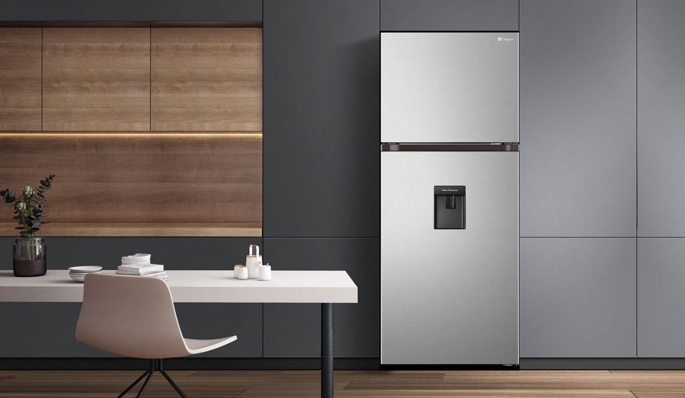 Tủ lạnh Casper Inverter 404 lít RT-421VGW - Thiết kế ngăn đông trên truyền thống