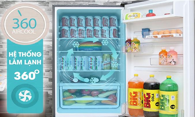 Tủ lạnh Electrolux 260 lít EBB2600BG làm lạnh 360 độ