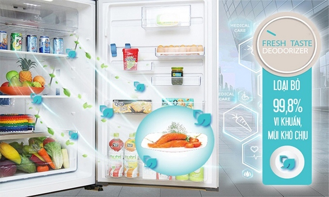 Tủ lạnh Electrolux Inverter 320 lít ETB3400J-H loại bỏ vi khuẩn