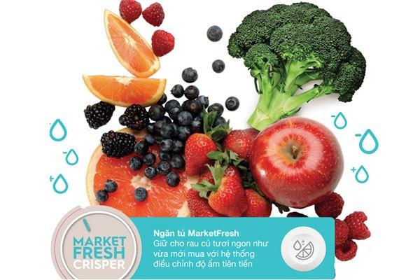 Ngăn rau quả của tủ lạnh với khả năng điều chỉnh độ ẩm đột phá