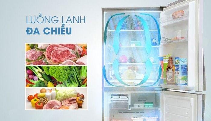 Thực phẩm được giữ lạnh đều với thực phẩm Electrolux