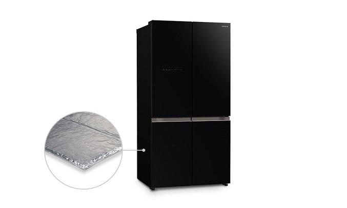Tủ lạnh Hitachi Inverter 569 lít R-WB640VGV0 (GBK) Tủ lạnh sở hữu Công nghệ cách nhiệt chân không VIP