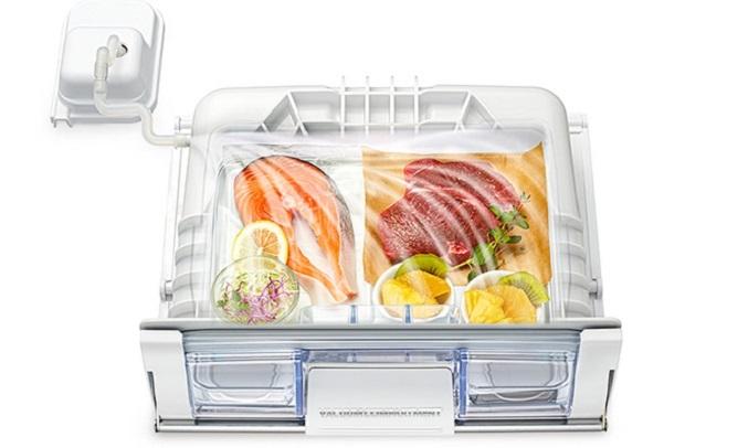 Tủ lạnh Hitachi Inverter 569 lít R-WB640VGV0 (GBK) Ngăn chân không giữ trọn dưỡng chất duy trì độ tươi ngon