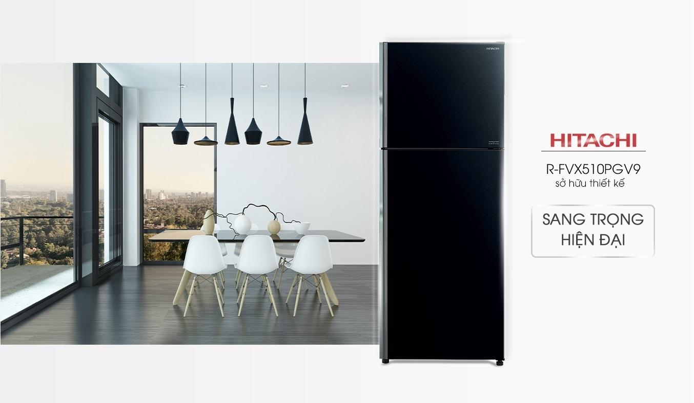 Tủ lạnh Hitachi Inverter 406 lít R-FVX510PGV9(GBK) - Thiết kế sang trọng, hiện đại