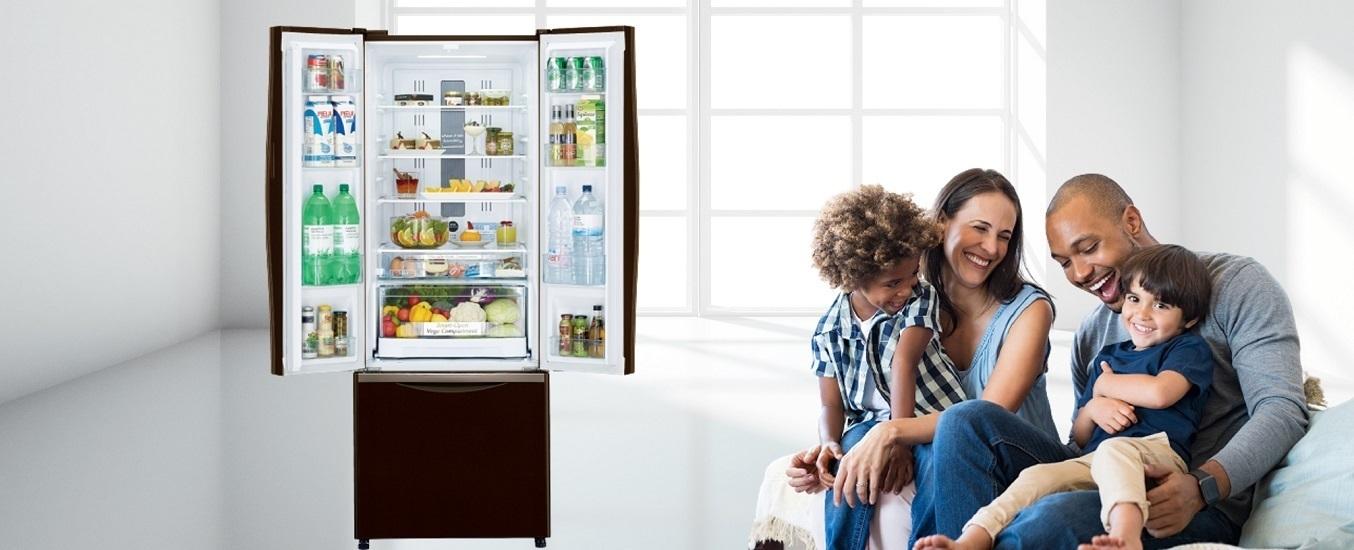Tủ lạnh Hitachi Inverter 429 lít R-FWB545PGV2 (GBW) - Công nghệ Inverter