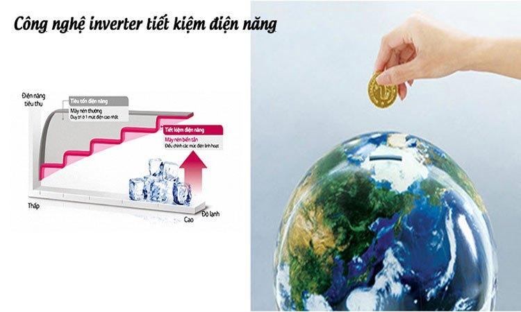 Tủ lạnh Hitachi 375L R-SG38FPGV (GBW) công nghệ Inverter tiết kiệm điện